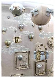 Balões Apliques para decoração de quarto de bebê